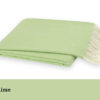 Zesty Lime Herringbone Throws - Jan de Luz Linens
