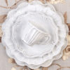 White Lace Charger Plate