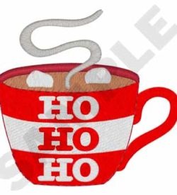 #XM2130 Cup Of Hot Chocolate - Christmas Embroidery - Jan de Luz Linens