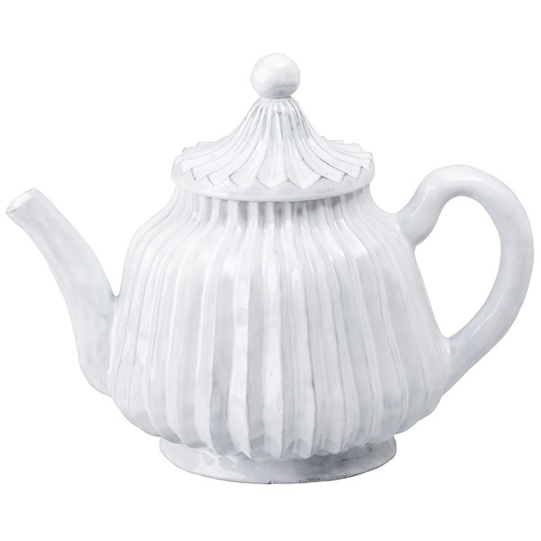 White Stripe Teapot