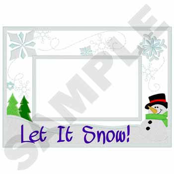 #XM2090 Let It Snow - Christmas Frames embroidery