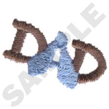 Dad #HY0841 - Father's Day Embroidery - Jan de Luz Linens