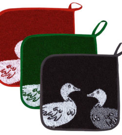 Ducks Terry Cotton Potholder Series